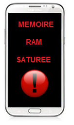 memoire saturee android que faire